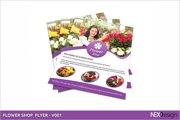 Flower Store Flyer Template