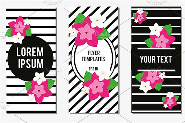 Flowers Flyer Design Template
