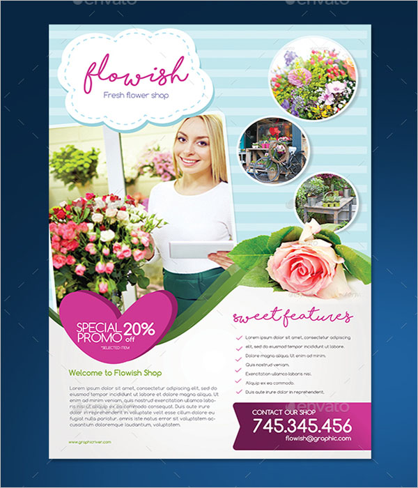Flowish Shop Flyer Design