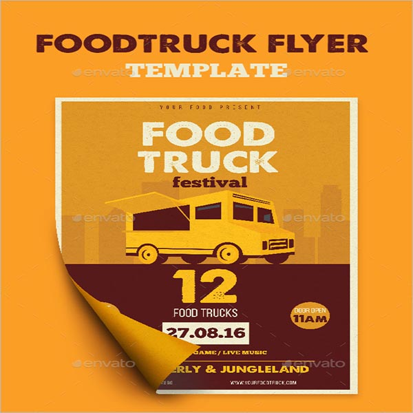 Food Truck Flyers Templates Free Download Creativetemplate - Food truck flyer template