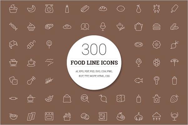 Food Icon Flat Design