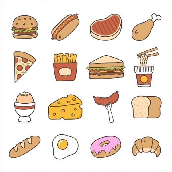 Food Icons Free Vector