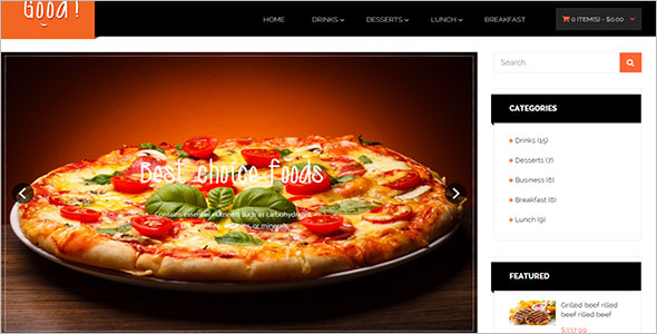 Food Responsive Opencart Theme