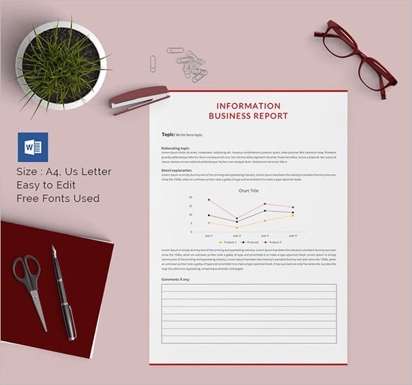 Formal Business Report Template Download
