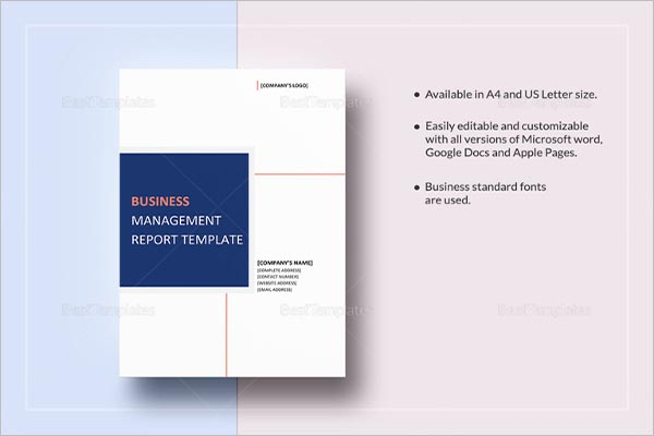 Formal Business Report Template PDF