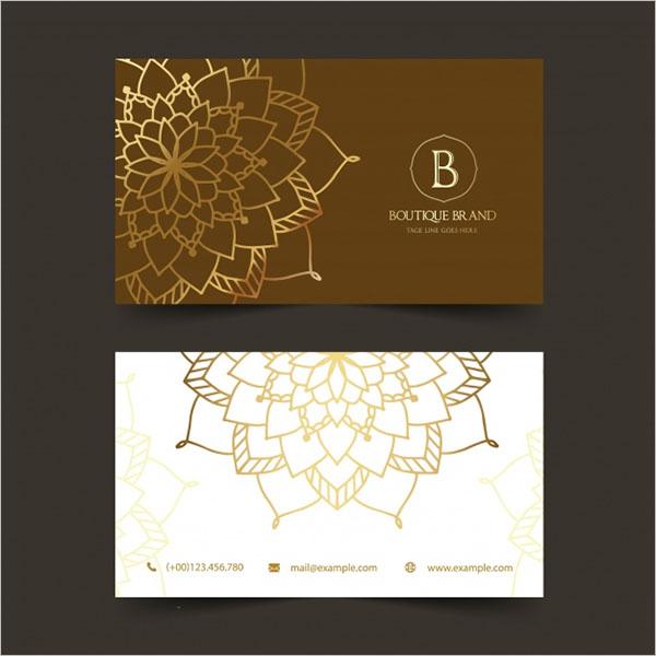 Free Boutique Business Card Design
