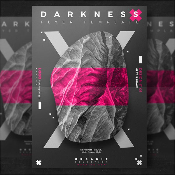 Free Dark Event Flyer Template