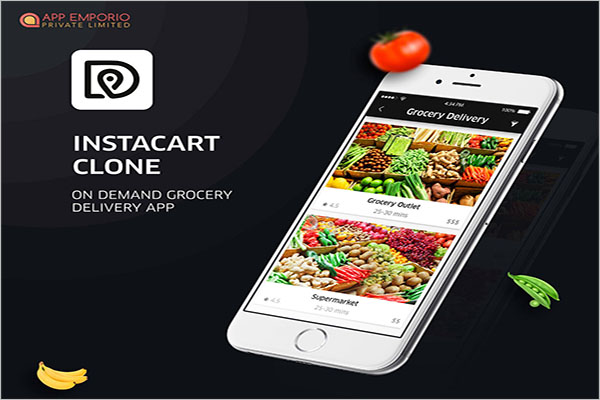 Free Demand Grocery Delivery App