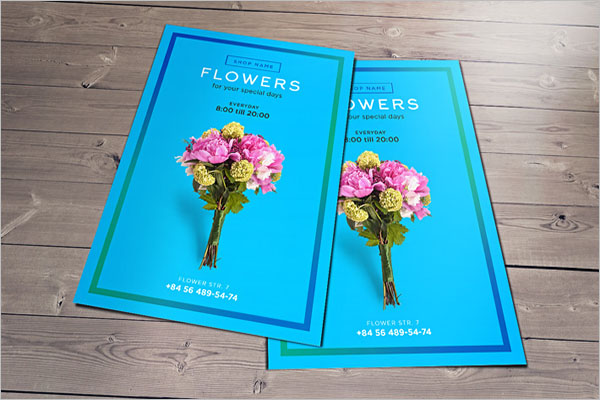 Free Flower Shop Flyer Design
