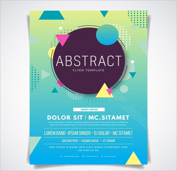 24 free event flyer templates free word psd vector designs