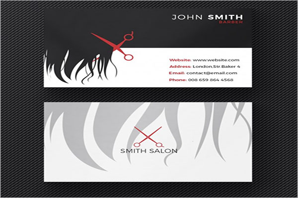 Free Hair Stylist Business Card Template