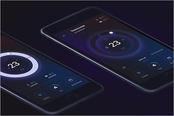 Free Mobile App Mockup PSD