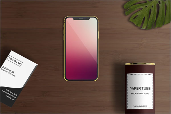 Free Mobile Application Mockup