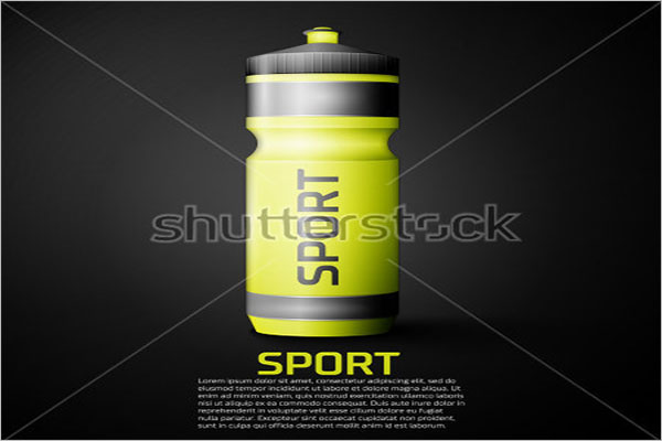 Free Sports Bottle Mockup
