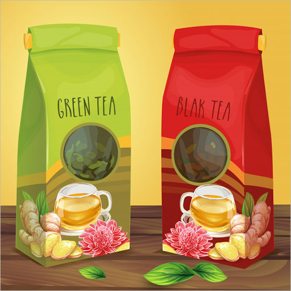 Free Tea Box Mockup