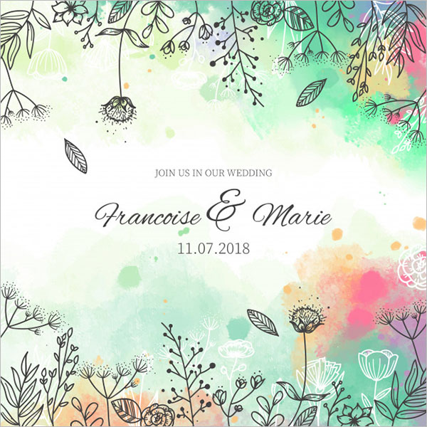 Free Wedding Invitation Background