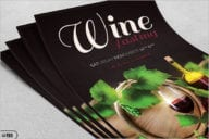 French Wine Dinner Flyer