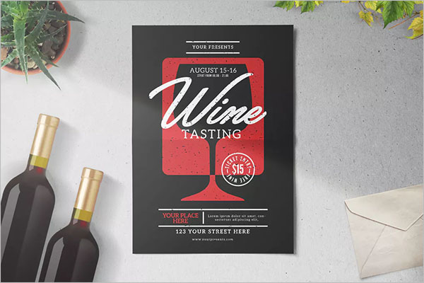 French Wine Flyer Template