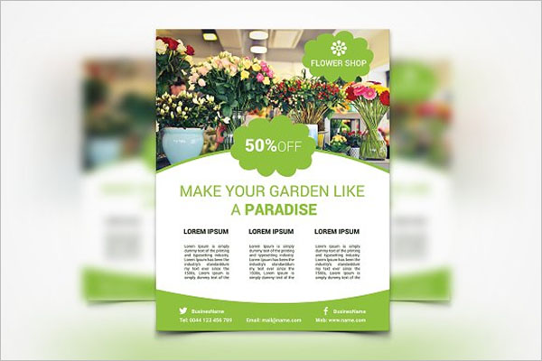 Fresh Flower Shop Flyer Design