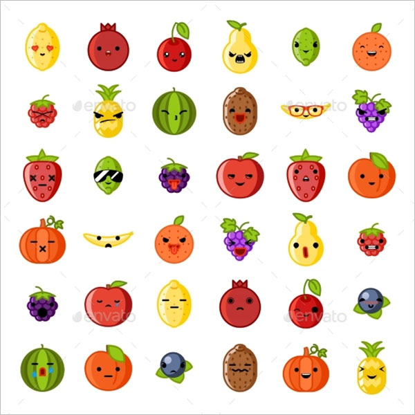 Fruit Emoji Fresh Symbols