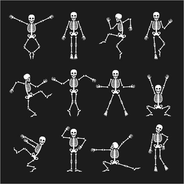 Funny Dancing Skeleton Set