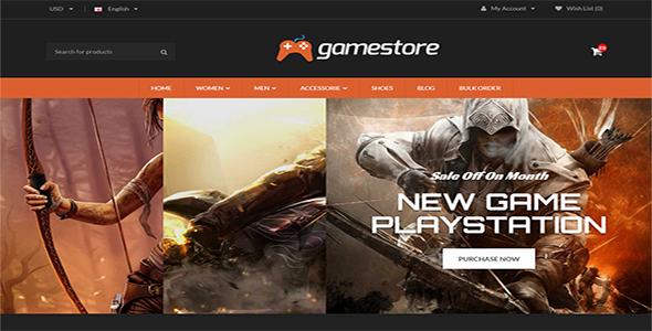 GameStore OpenCart Template