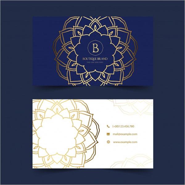 Gold Boutique Business Card Design
