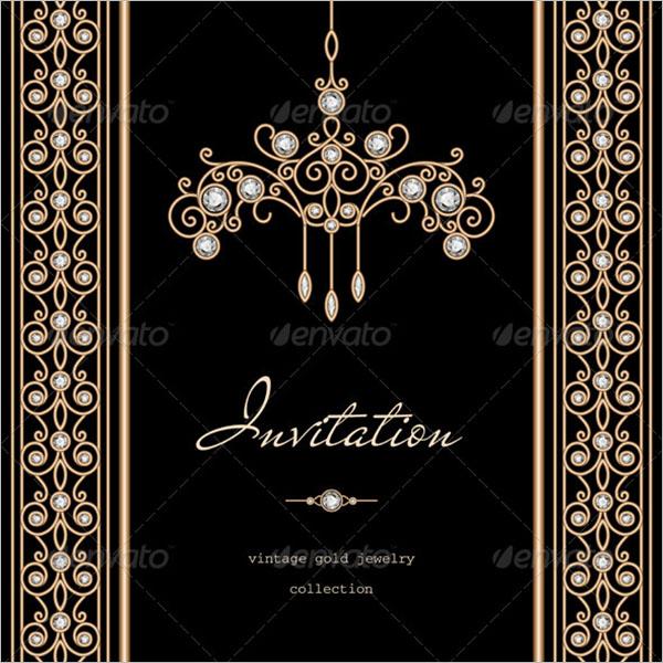 Gold Wedding Invitation Background