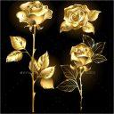 Golden Roses Background Design