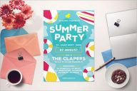 Graduation Pool Party Flyer Template