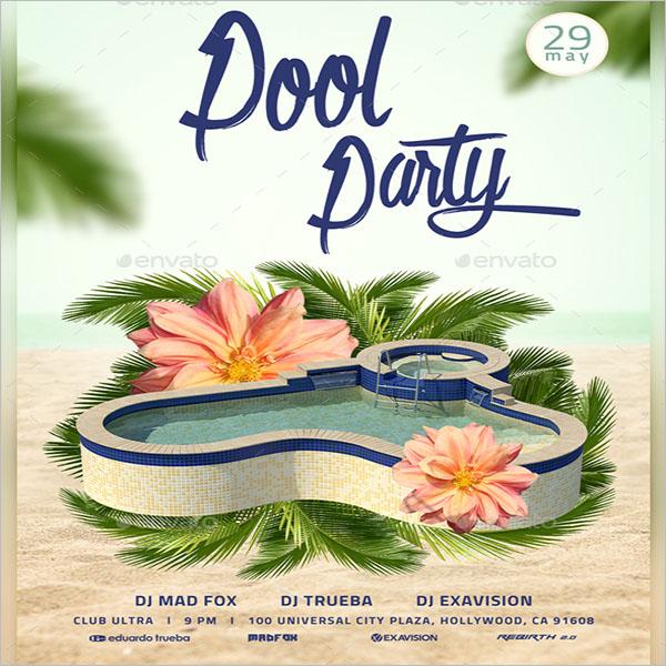 Graduation Pool Party Flyer