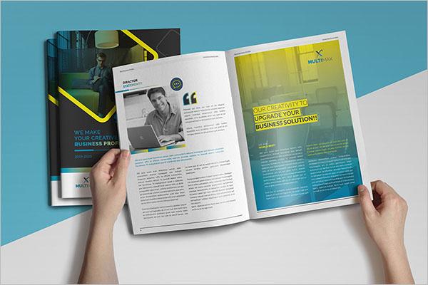 Graphic Brochure Template Design