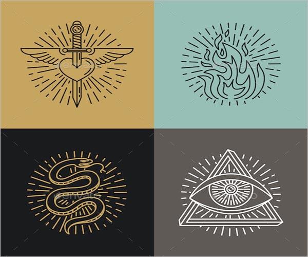 Graphic Icon Tattoo Design