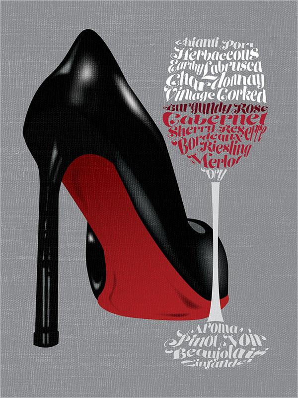Graphic Wine Poster Design