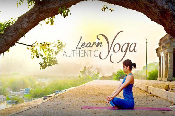 Graphic Yoga Poster Design