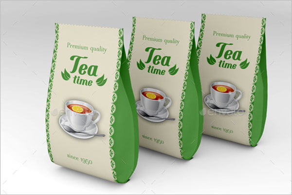 Green Tea Box Mockup