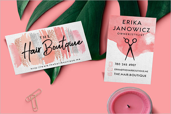 Hair Boutique Business Card Design