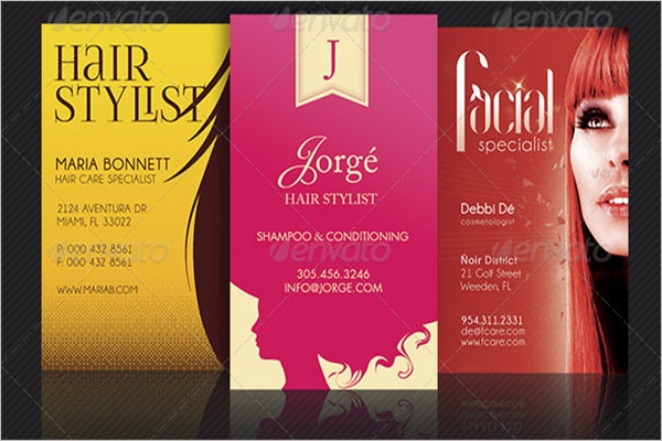 Hair Stylist Business Card Template Bundle