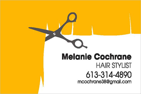 Hair Stylist Business Card Template Free Download