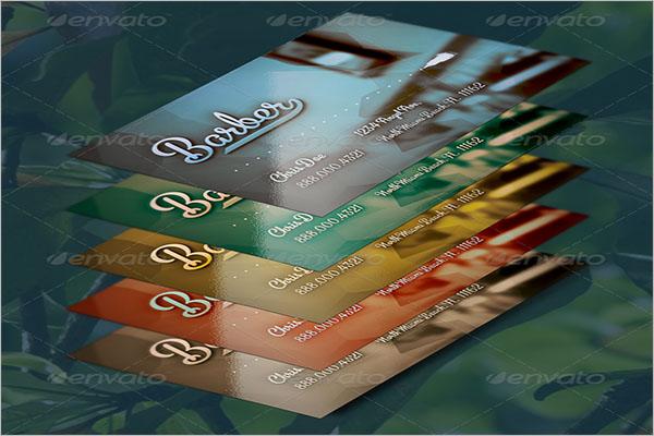 Hair Stylist Business Card Vector