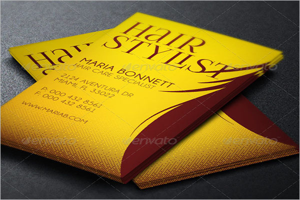 Hair care Specialist Business Card Template