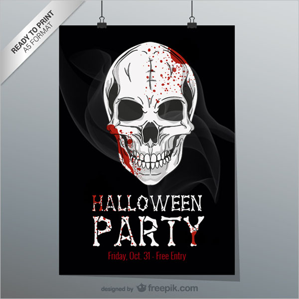 Halloween Printable Flyer Free Vector