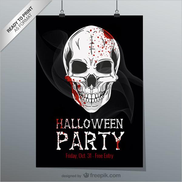 Halloween Printable Flyer Free Vector