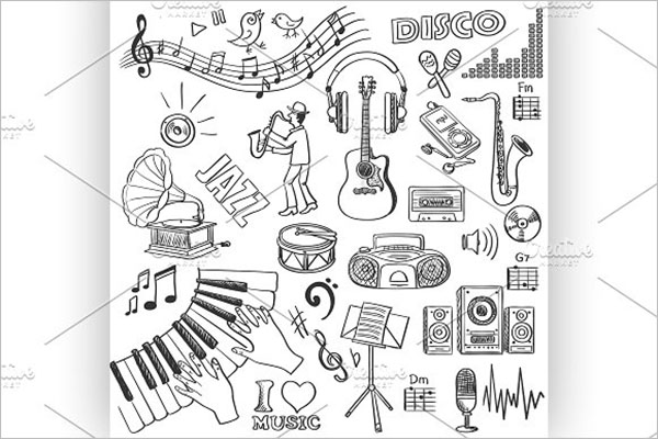 Hand Drawn Music Design