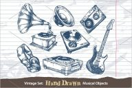 Hand Drawn Musical Objects