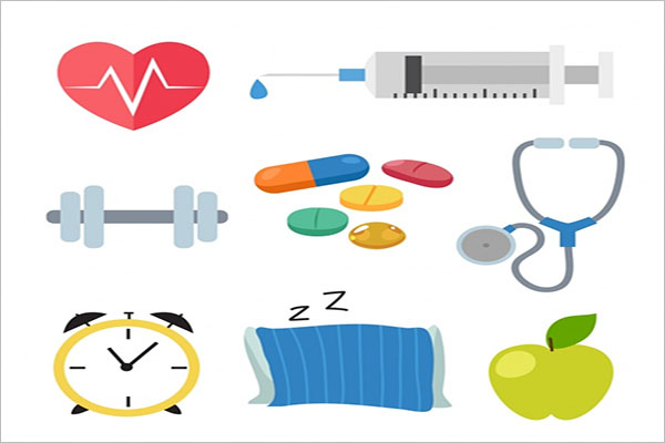 Health icons collection Free Vector