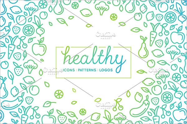 Healthy - icons, patterns and logos