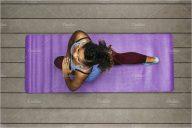 Healthy yoga Mat Mockup Template