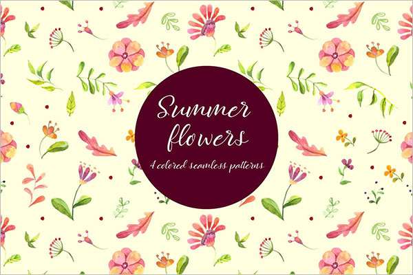 High Resolution Summer Flowers Design