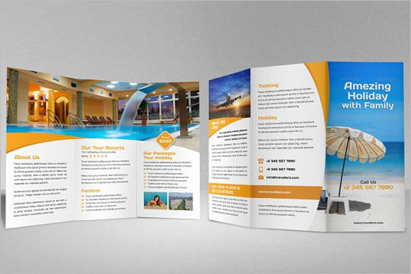 Holiday Travel Trifold Brochure Design